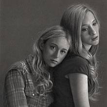 The Returned - Lena and Camille, 2014, Pencils on paper, heightened with white, 46 x 62 cm